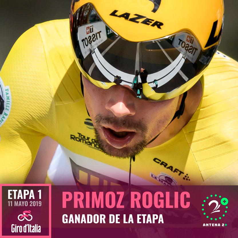 Primoz Roglic ganó la primera etapa del Giro de Italia 2019