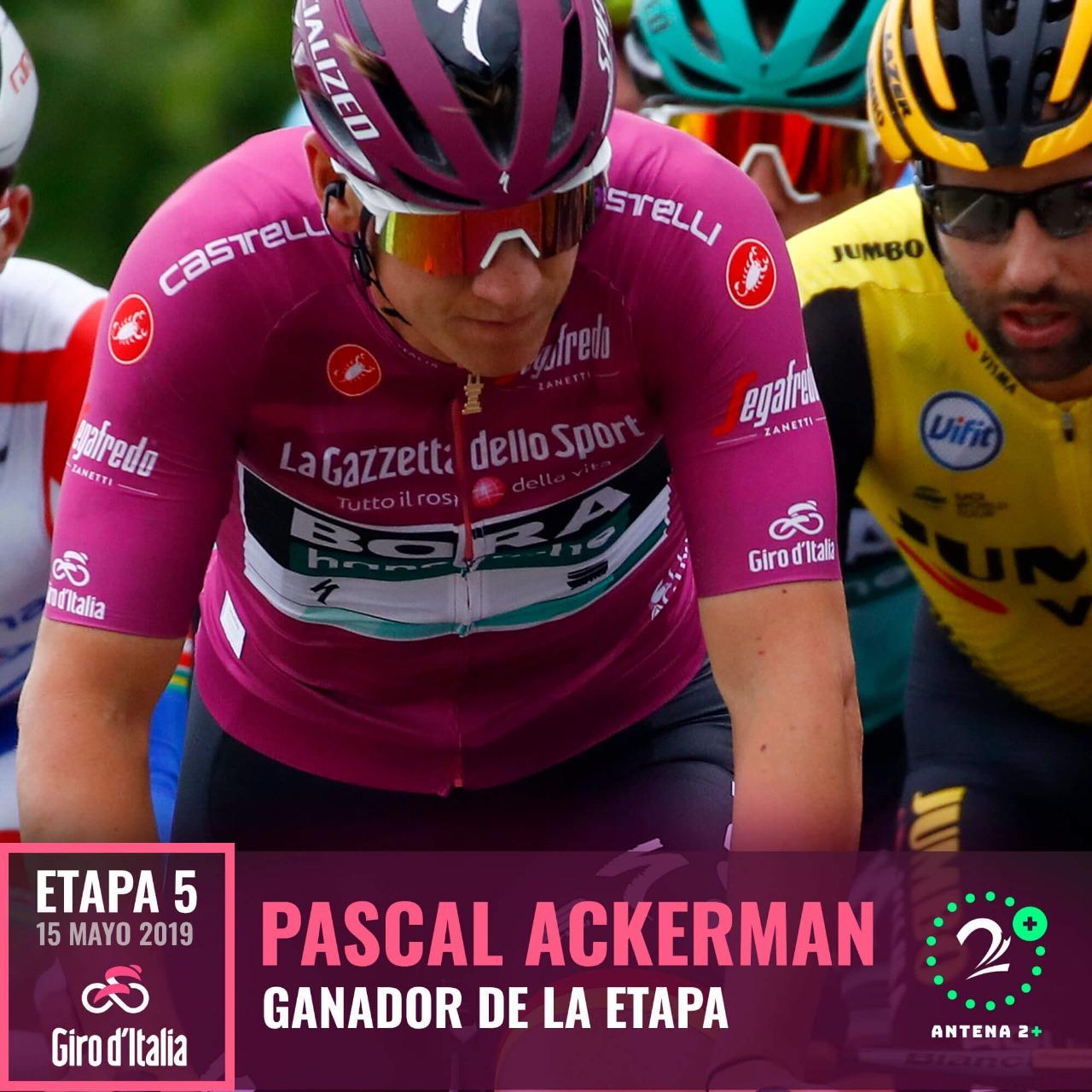 Pascal Ackermann, ganador de la quinta etapa del Giro de Italia 2019