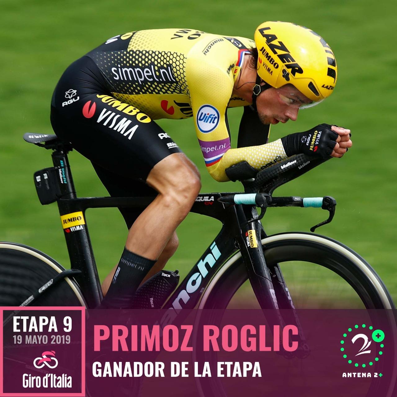 Primoz Roglic ganó la novena etapa del Giro de Italia