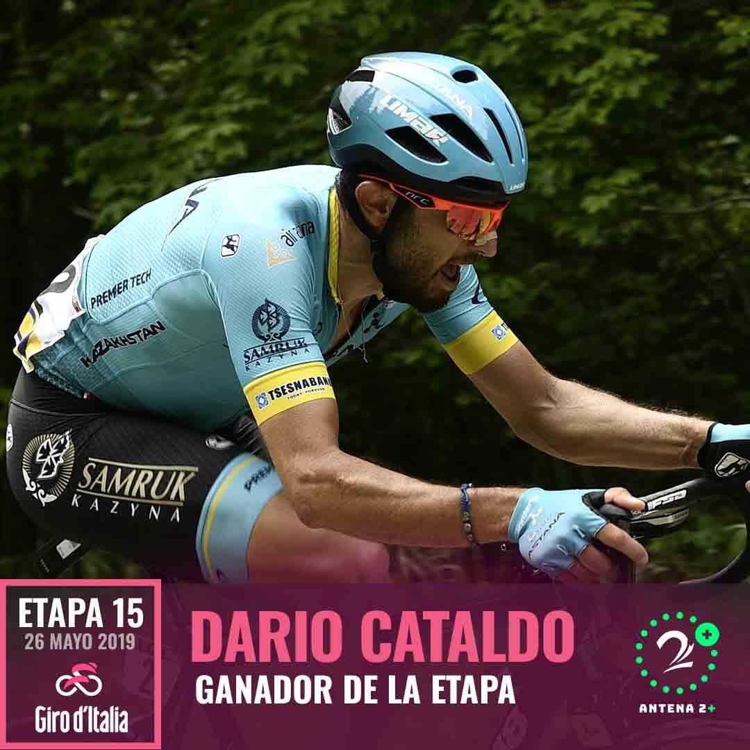 Darío Cataldo, ganador de la etapa 15 del Giro de Italia 2019