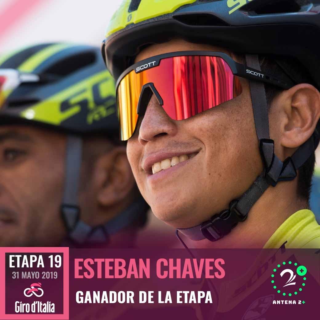 Esteban Chaves ganó la etapa 19 del Giro de Italia