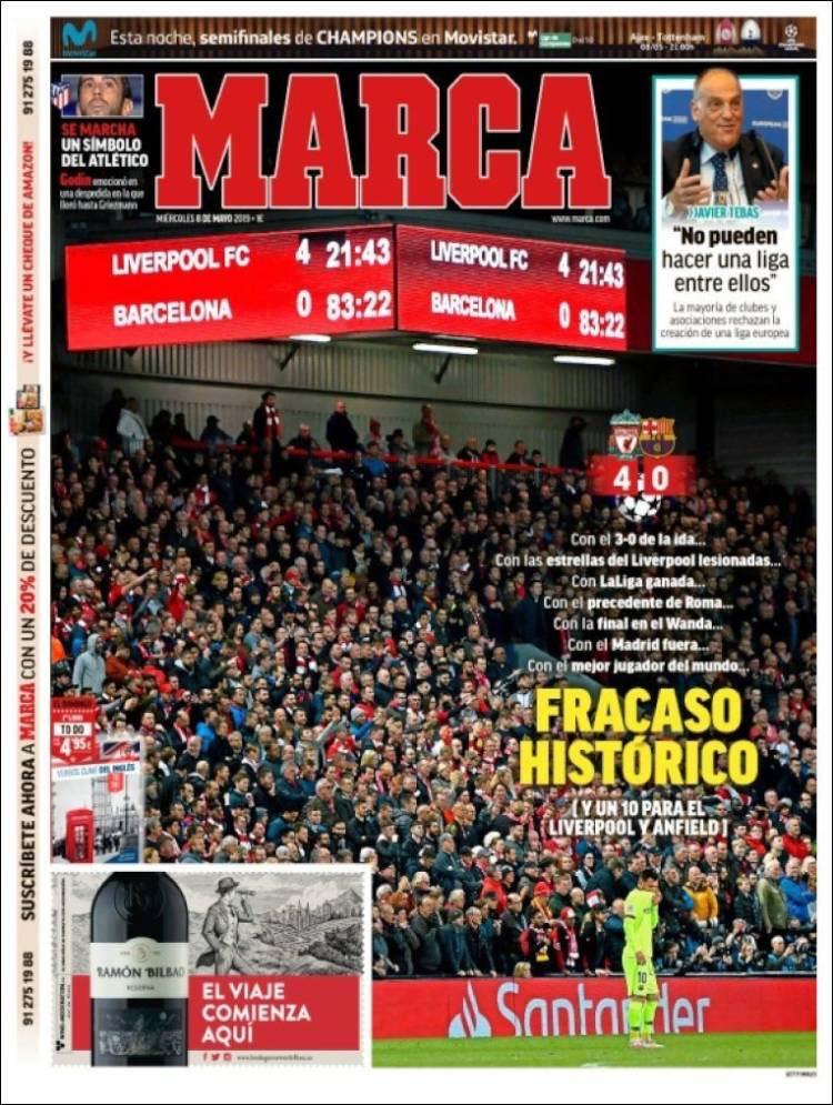 Portada Marca, tras victoria del Liverpool