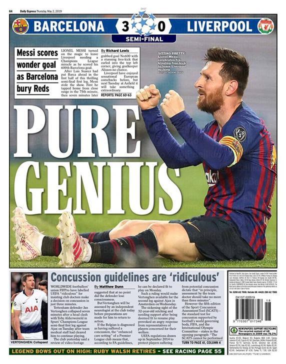 El Daily Express con Messi en portada