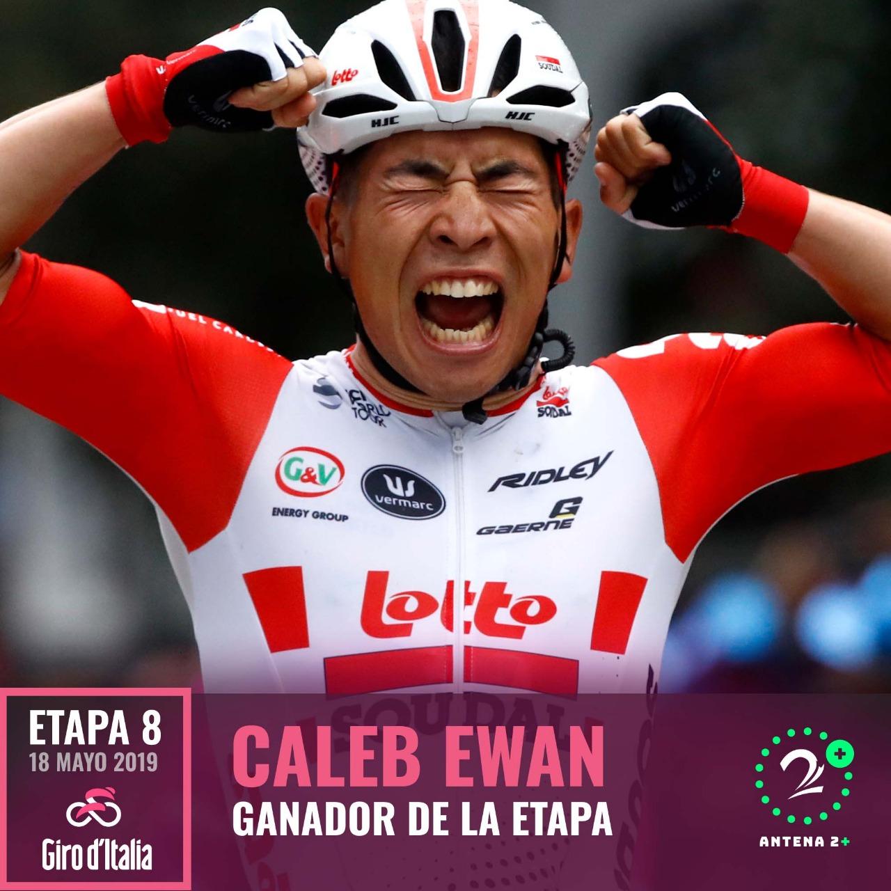 Caleb Ewan (Lotto Soudal) ganador de la octava etapa del Giro de Italia