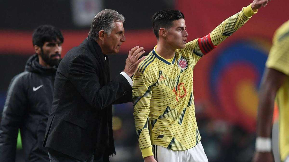 Colombia vs Ecuador: Queiroz da la camisa 10 de James a Steven Alzate  | Antena 2