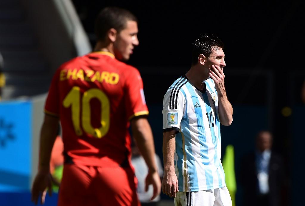 Eden Hazard y Leo Messi en Rusia 2018