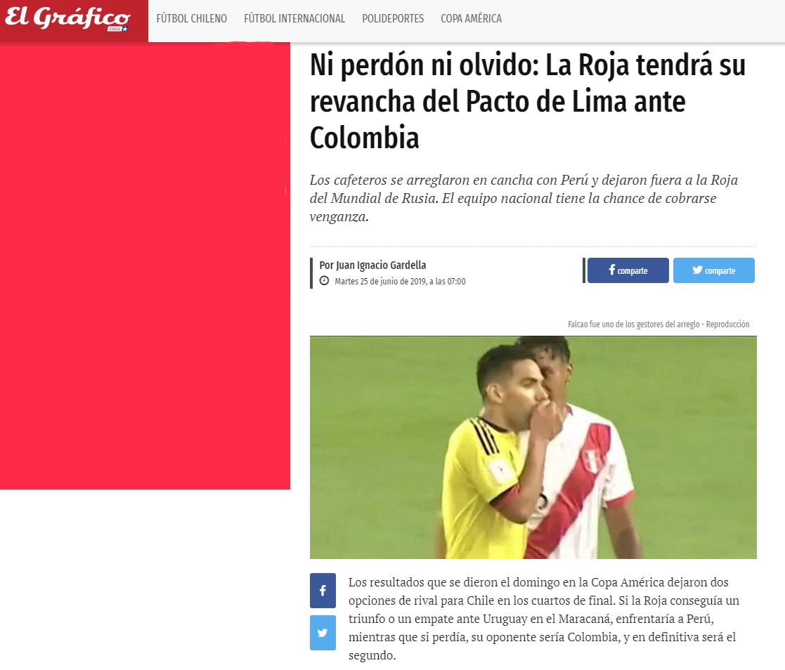 Nota del Diario El Gráfico de Chile
