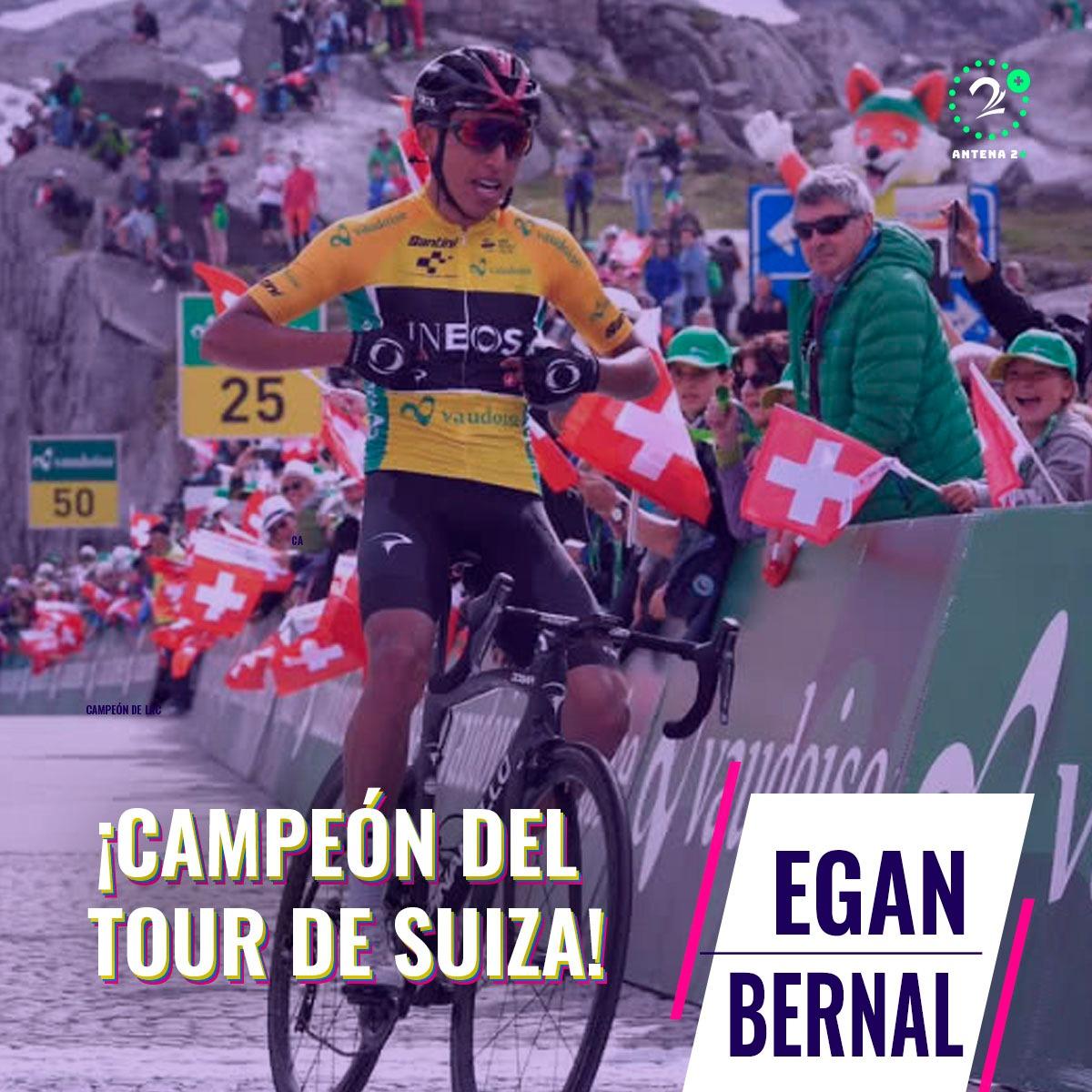 Egan Bernal campeón de la Vuelta a Suiza