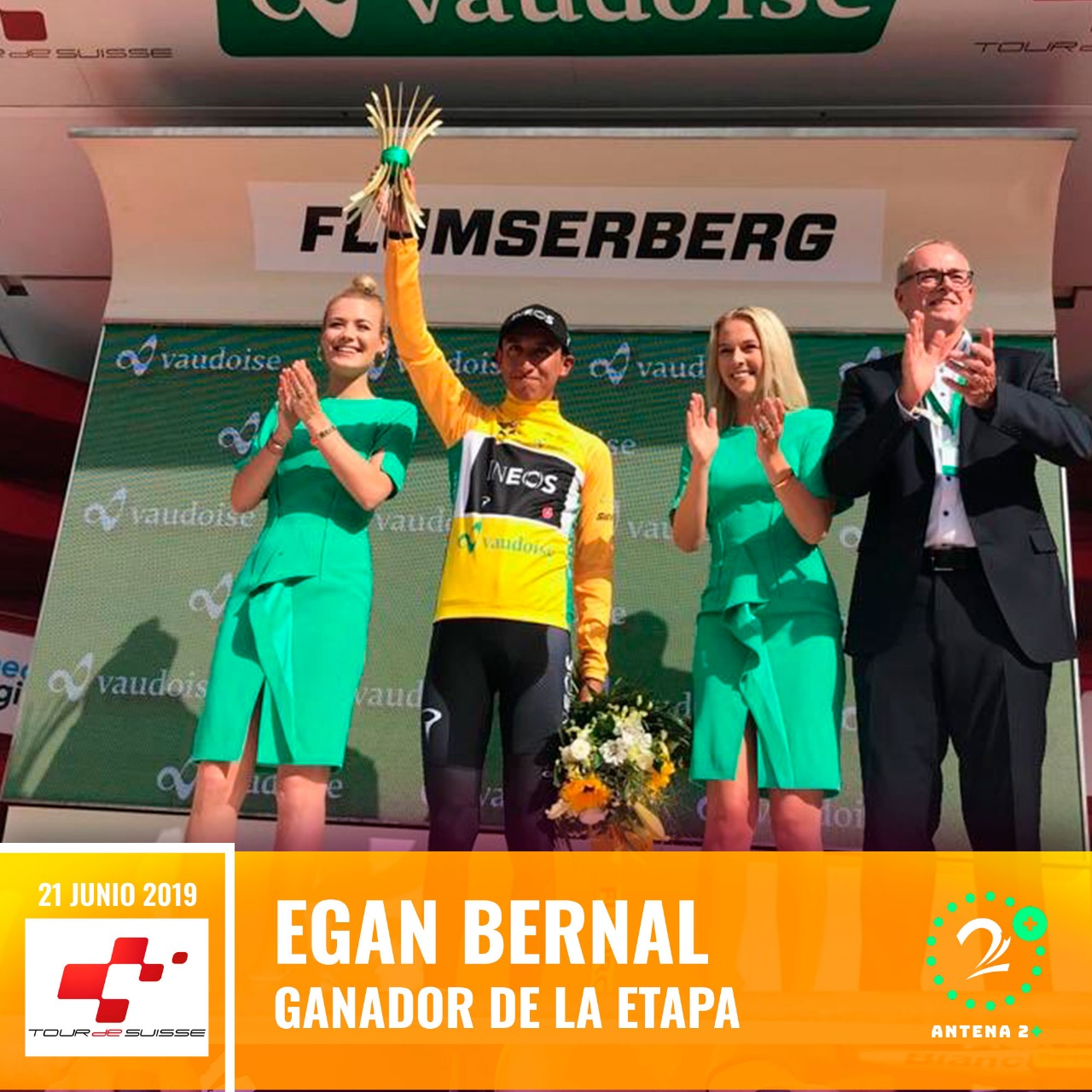 Vuelta a Suiza, Egan Bernal, 2019