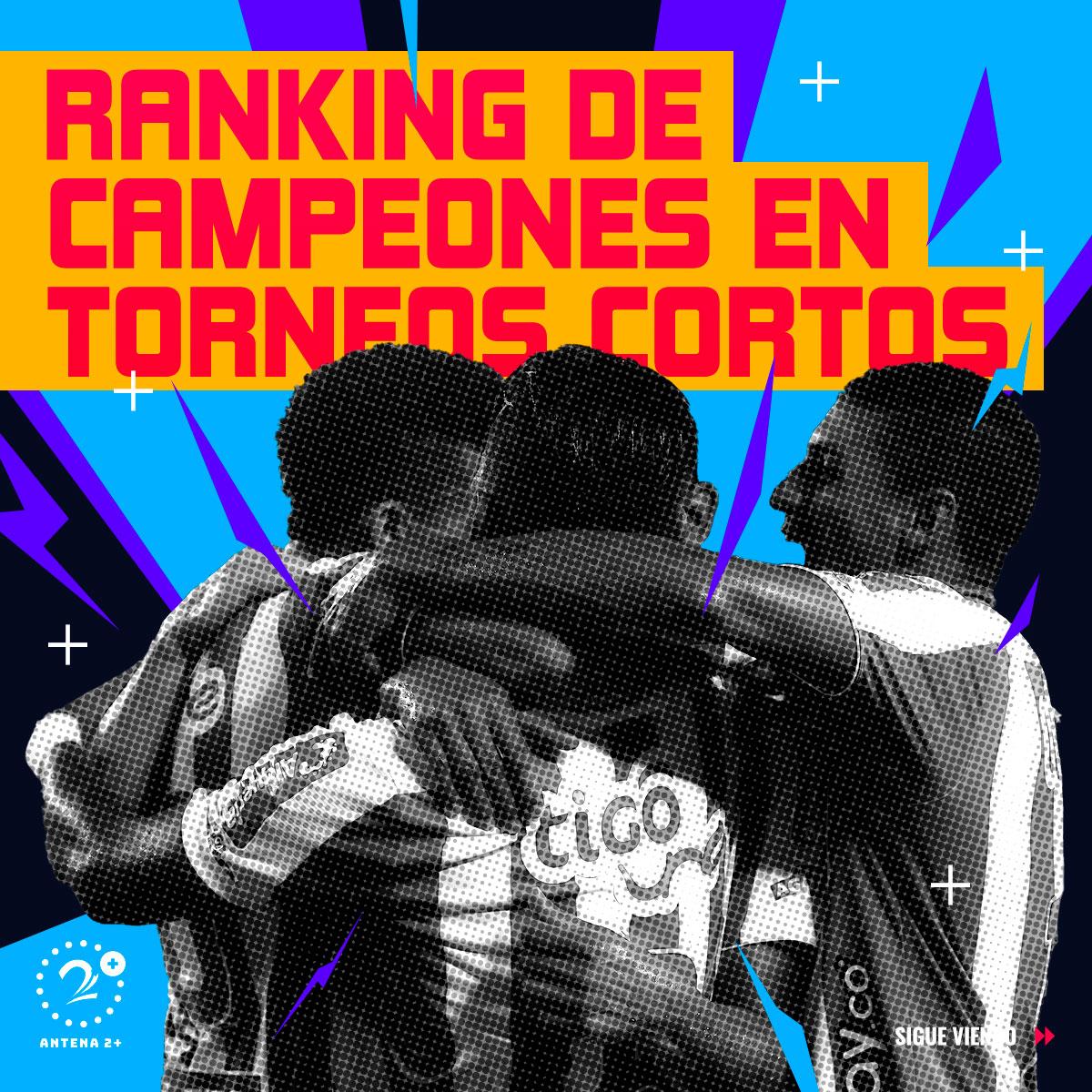 Ránking de los campeones en torneos cortos de la Liga Águila