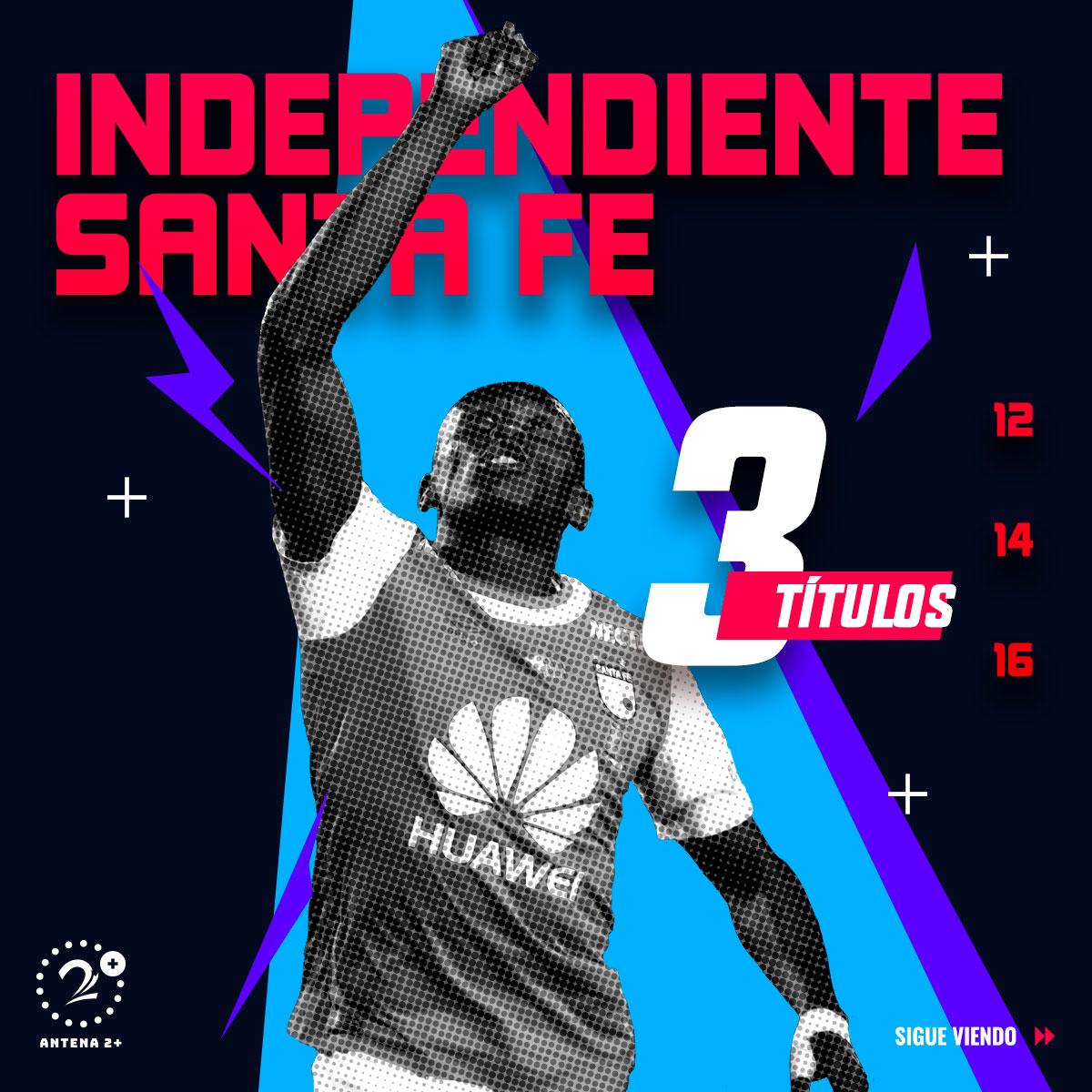 Independiente Santa Fe, campeón en tres ocasiones a nivel de torneos cortos