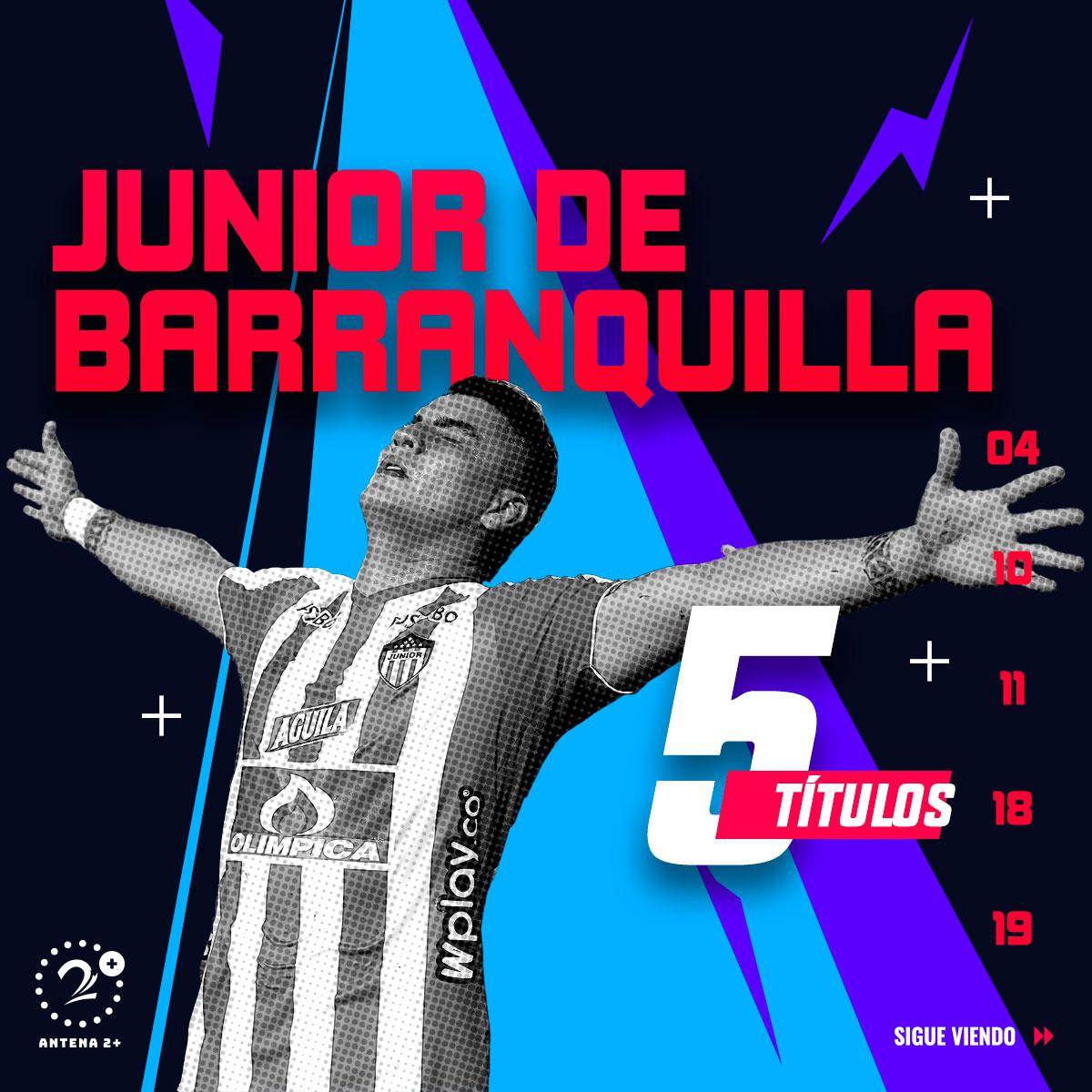 Junior, campeón en cinco ocasiones a nivel de torneos cortos.