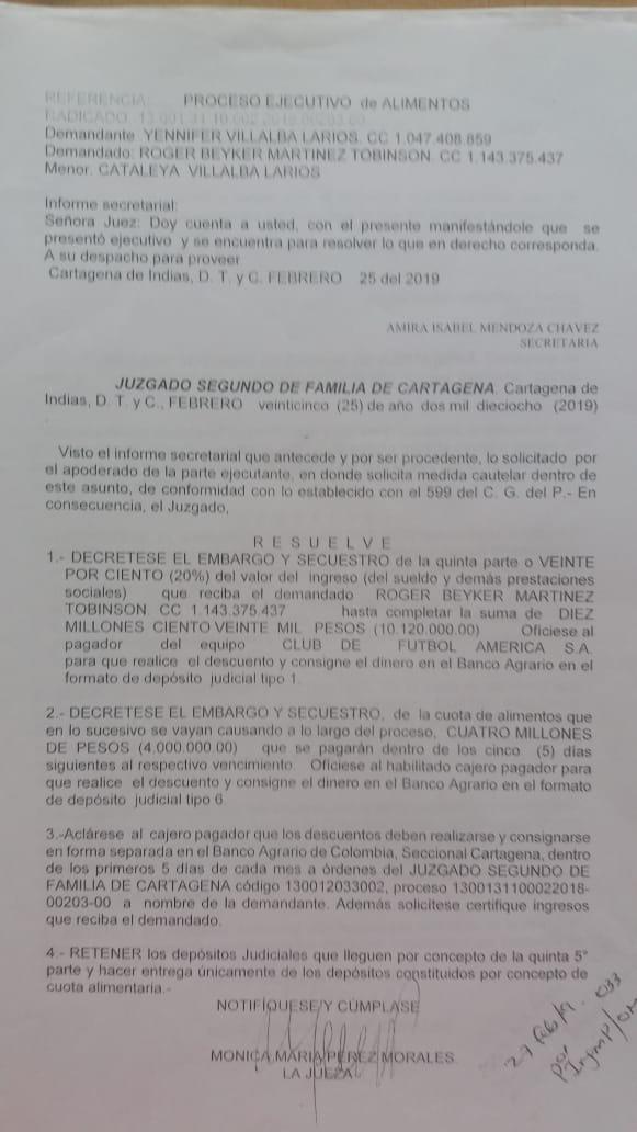 Decisión Juzgado Roger Martínez