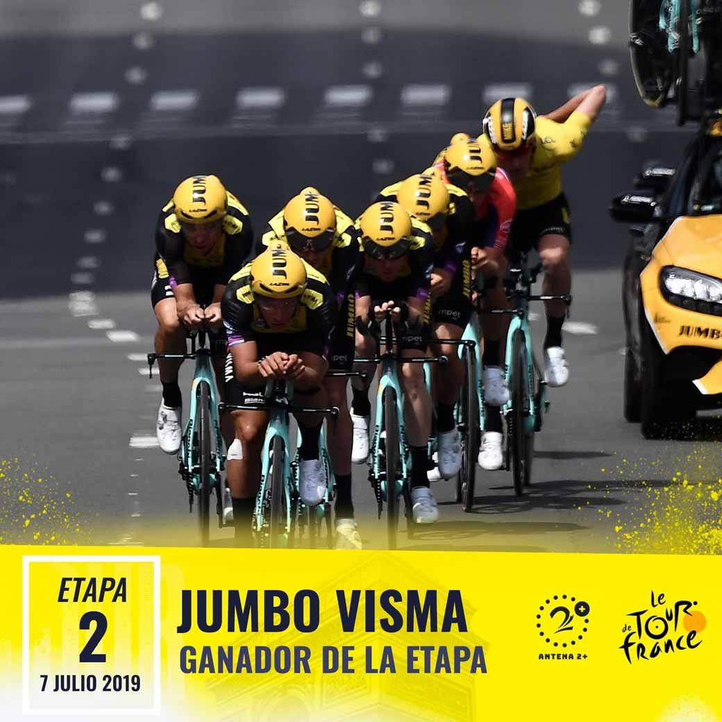 Jumbo, Tour de Francia, segunda etapa