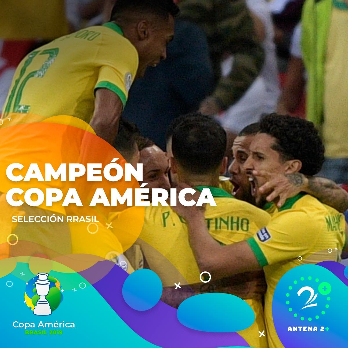 Brasil campeón, Copa América, 2019