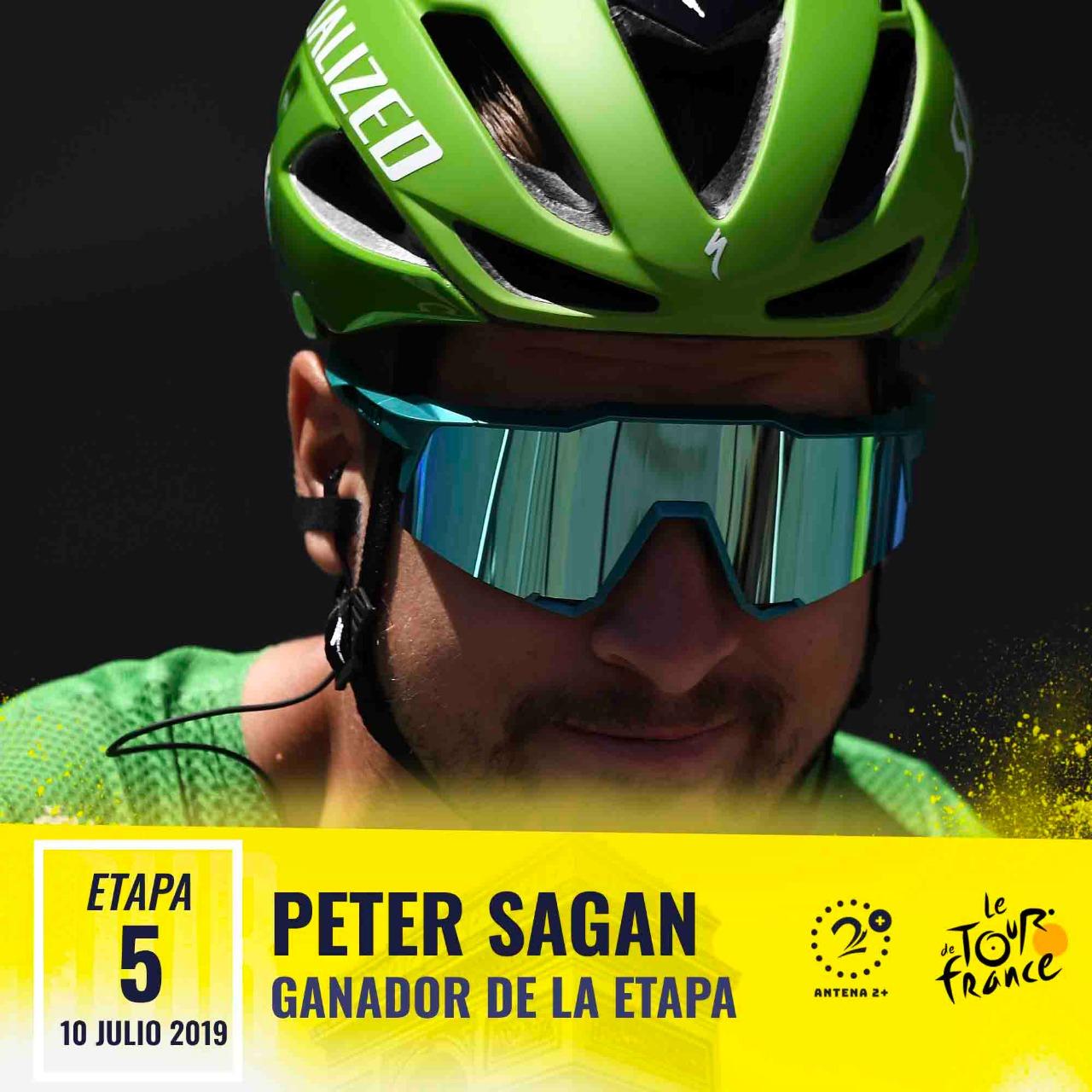 Peter Sagan fue el más rápido y ganó la quinta etapa del Tour de Francia