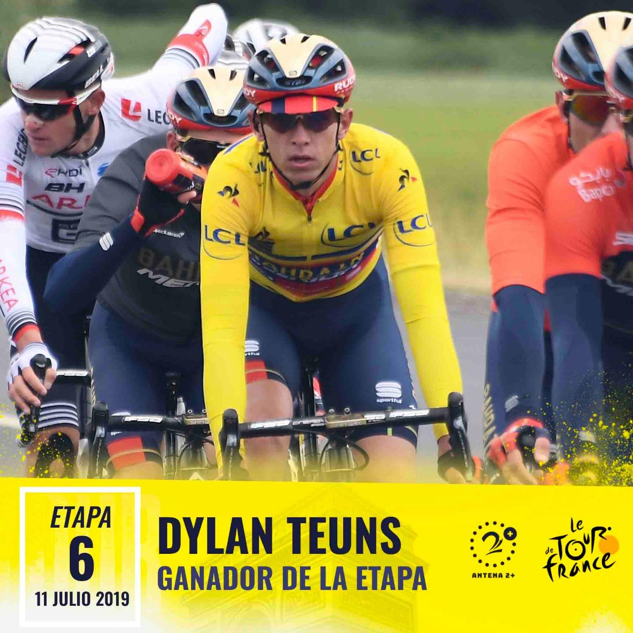 Dylan Teuns, ganador de la sexta etapa del Tour de Francia