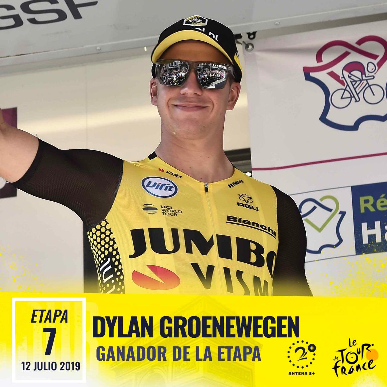 Dylan Groenewegen (Jumbo-Visma) ganó la etapa número 7 del Tour de Francia