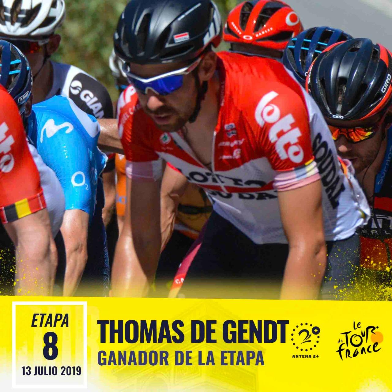 Thomas de Gendt ganó la octava etapa del Tour de Francia