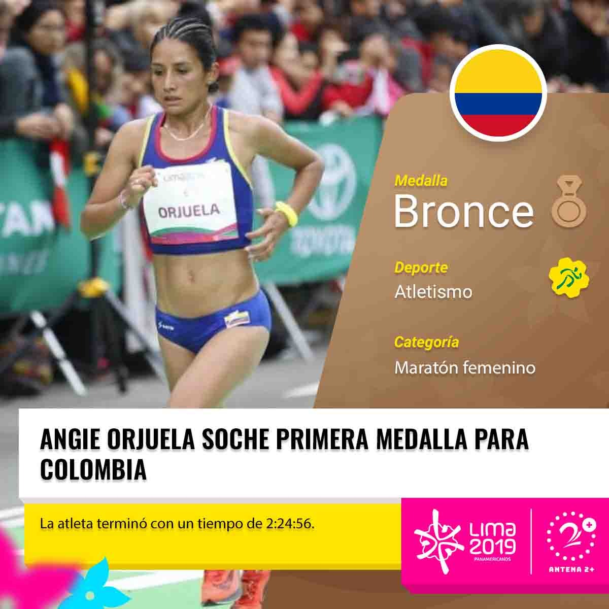 Angie Orjuela, medalla de bronce para Colombia