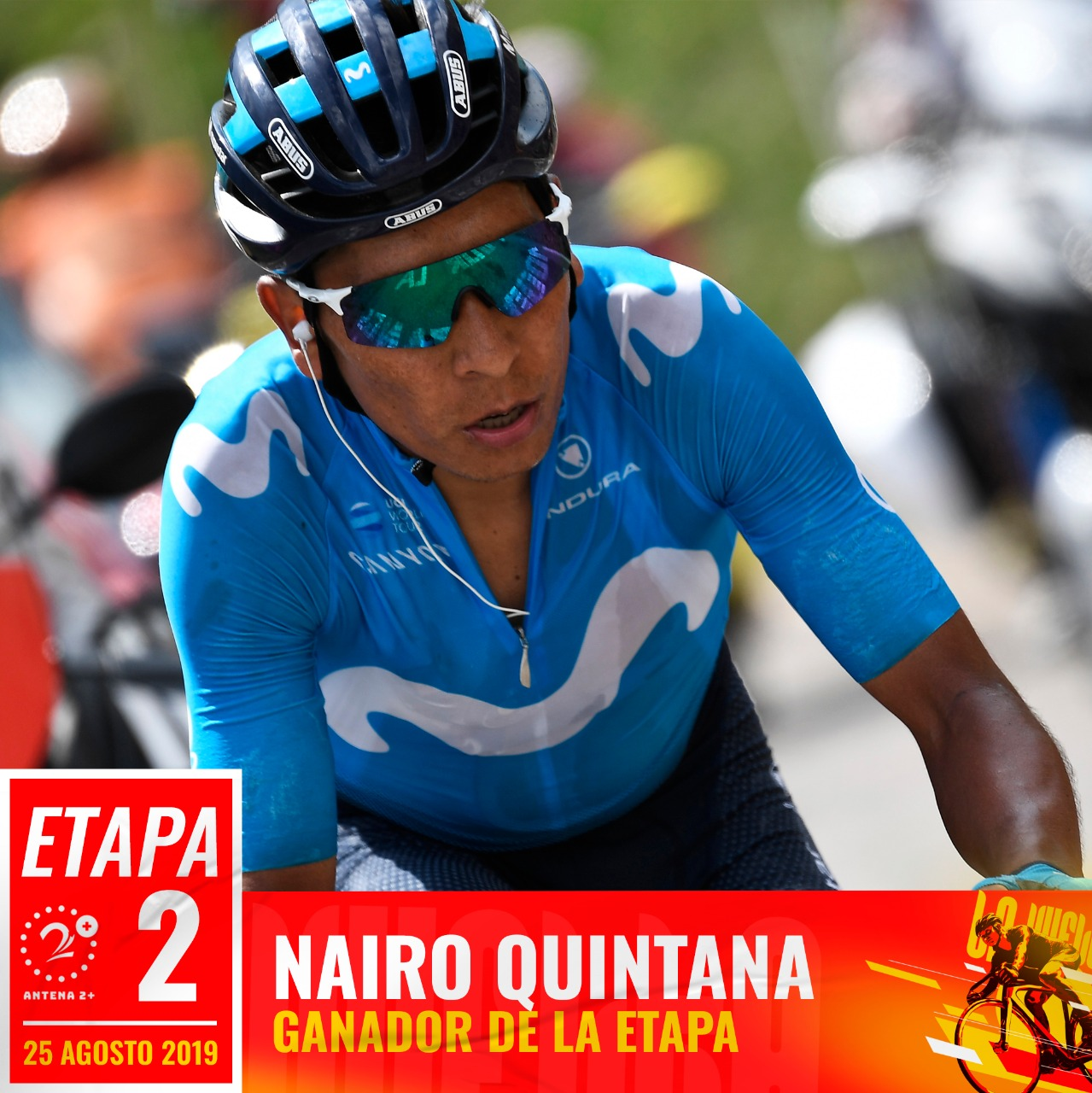 Nairo Quintana - segunda etapa de la Vuelta a España