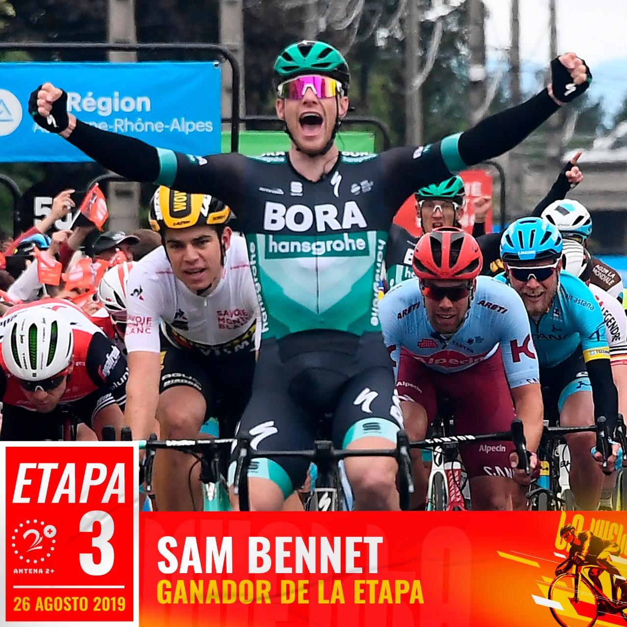 Sam Bennett ganó la tercera etapa de la Vuelta a España