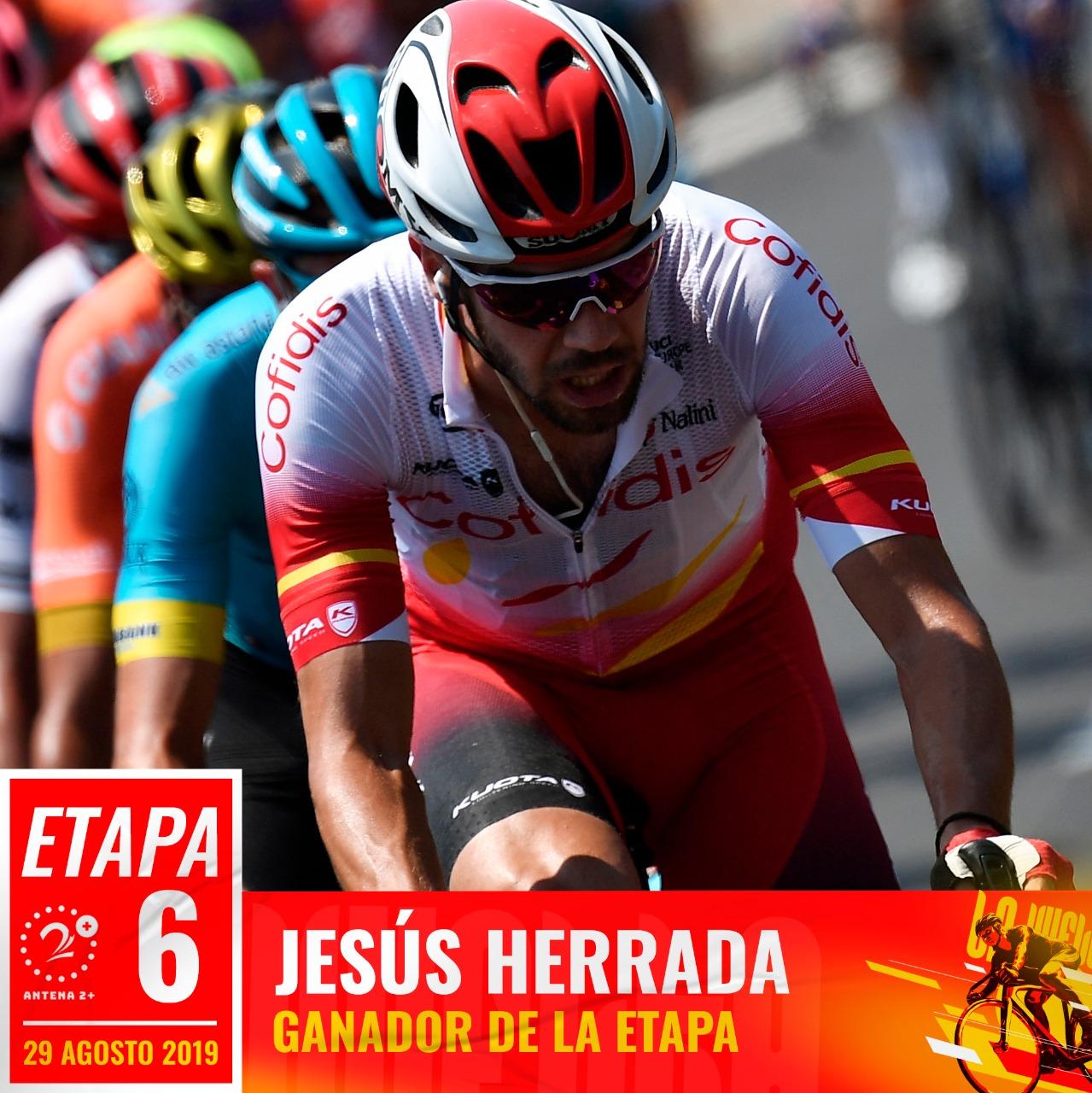 Jesús Herrada ganó la sexta etapa de la Vuelta a España