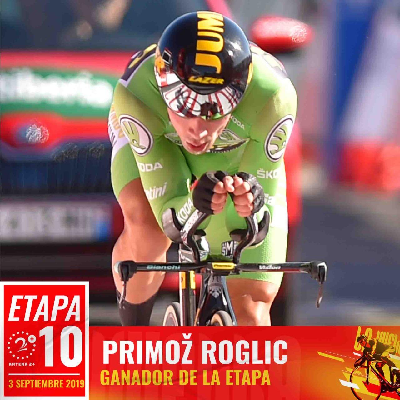 Primoz Roglic (Jumbo Visma) ganó la décima etapa y es nuevo líder de la Vuelta a España