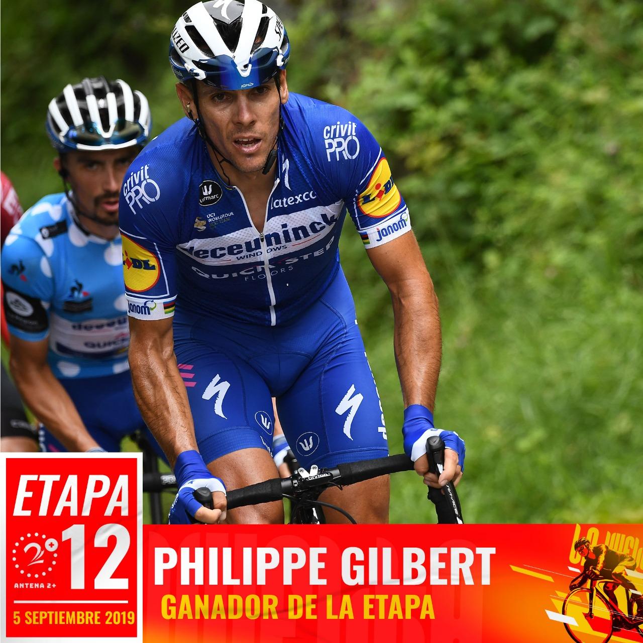 Philippe Gilbert (Quick Step)ganó la etapa 12 de la Vuelta a España