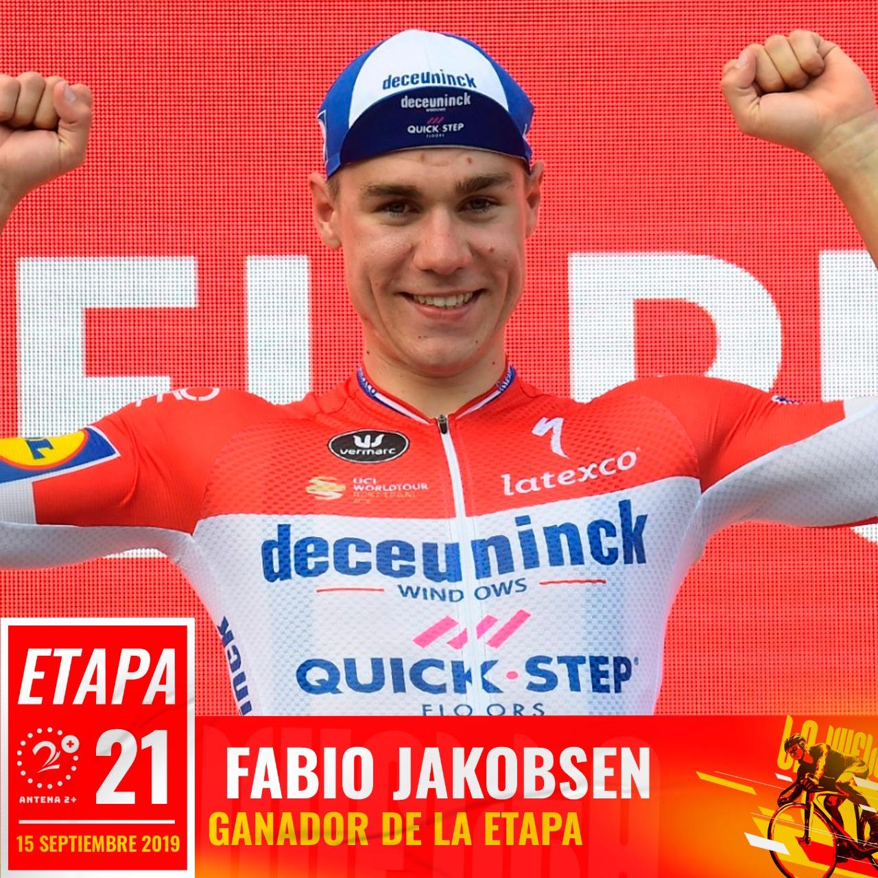 Fabio Jakobsen, etapa 21, Vuelta a España