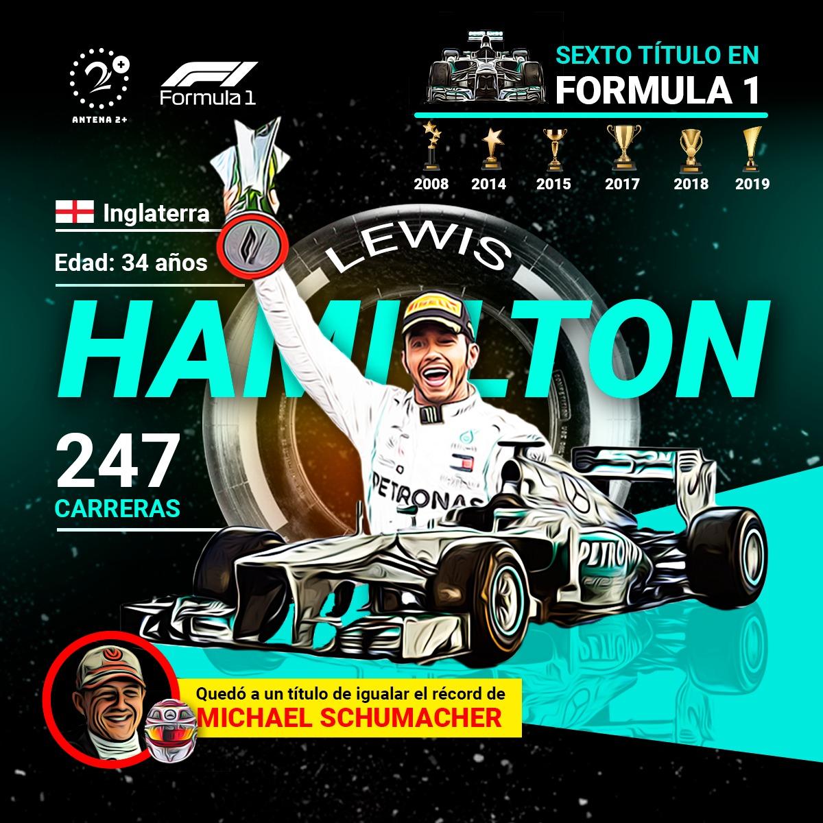 Lewis Hamilton, campeón de la F1