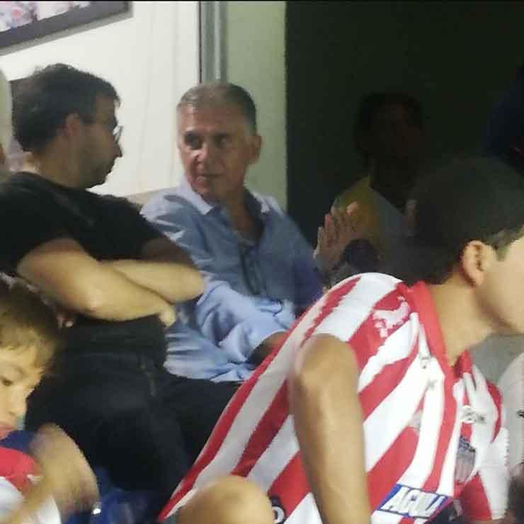 Carlos Queiroz en el estadio Metropolitano