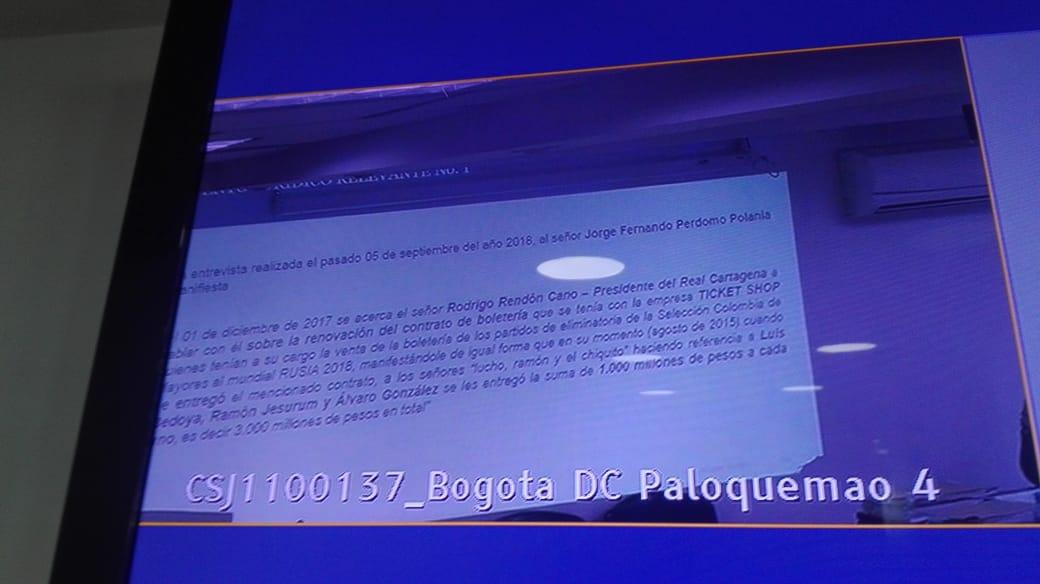 Declaración clave contra Bedoya, Jesurún y González por reventa de boletería