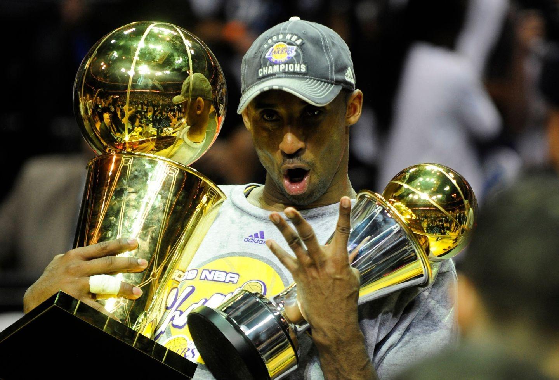Kobe Bryant celebra su campeonato de 2009