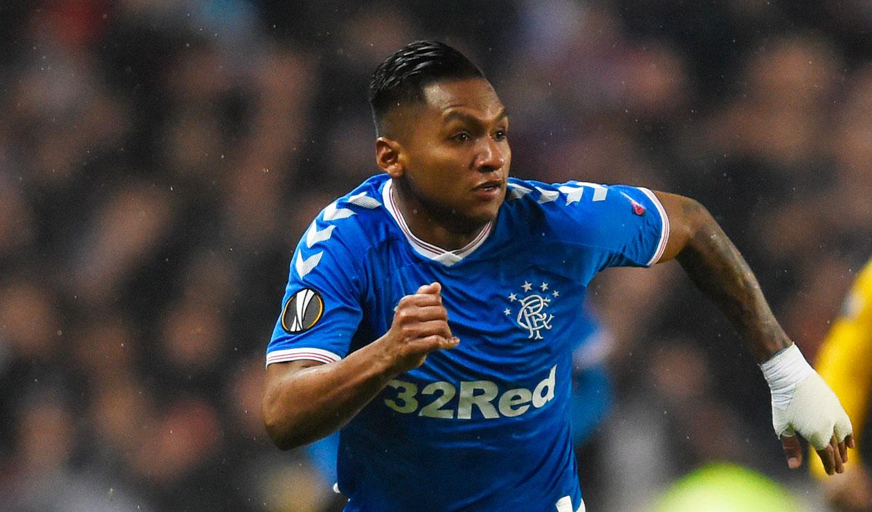 Alfredo Morelos marcó doblete en triunfo de Rangers en Europa League | Antena 2