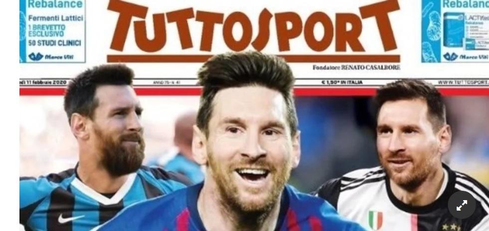 Portada de Tuttosport sobe Lionel Messi