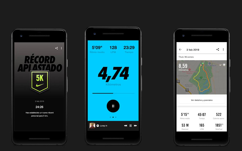 nike app, para correr