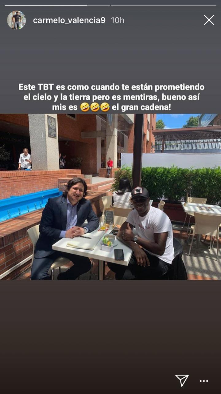 Carmelo Valencia con Cadena