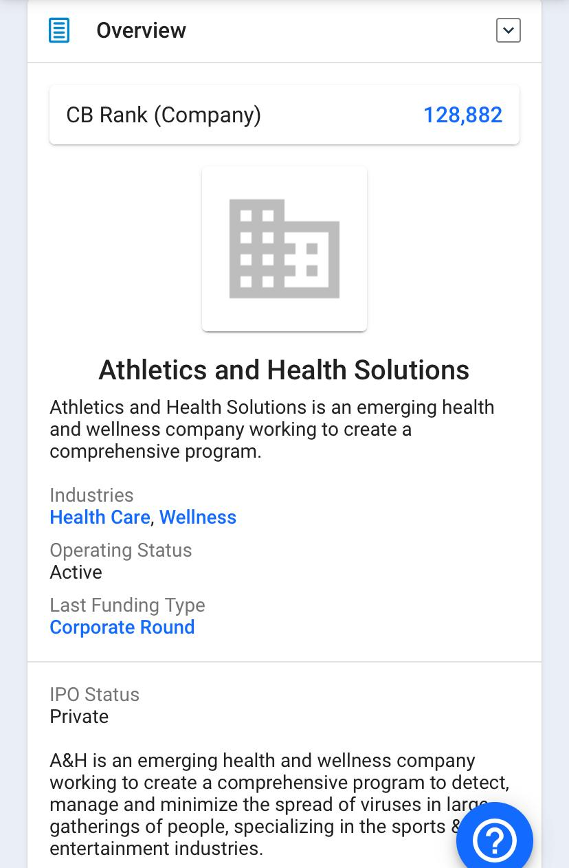 Athletics and Health Solutions Inc