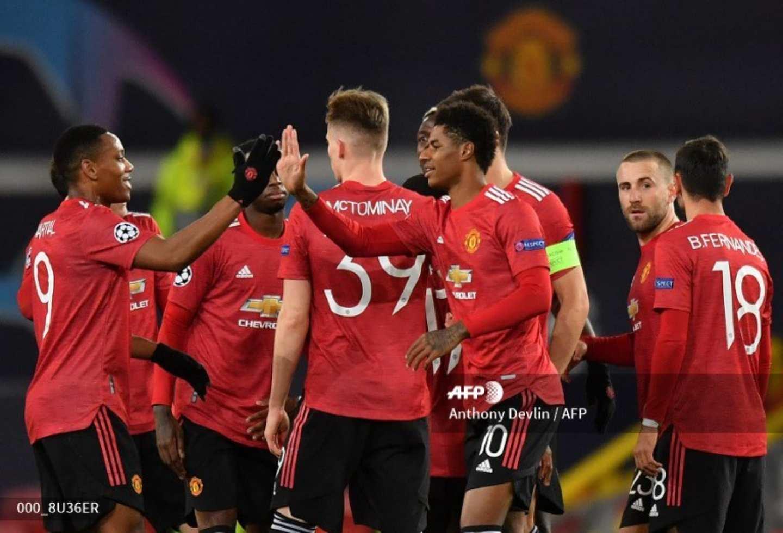 Manchester United goleó a Leipzig en Champions League   Antena 2