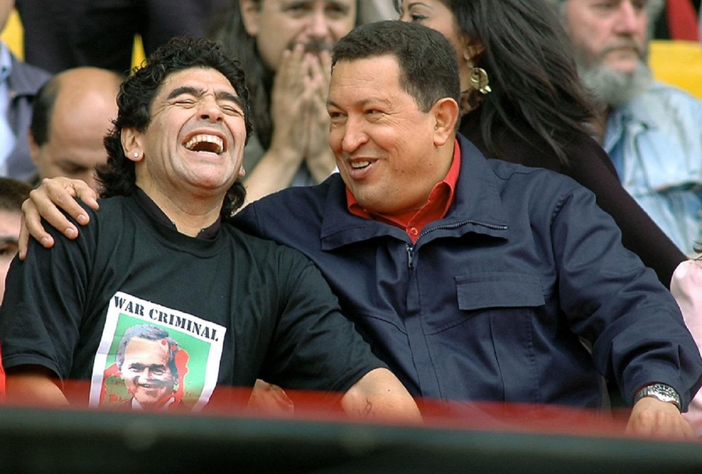 Diego Maradona y Hugo Chávez