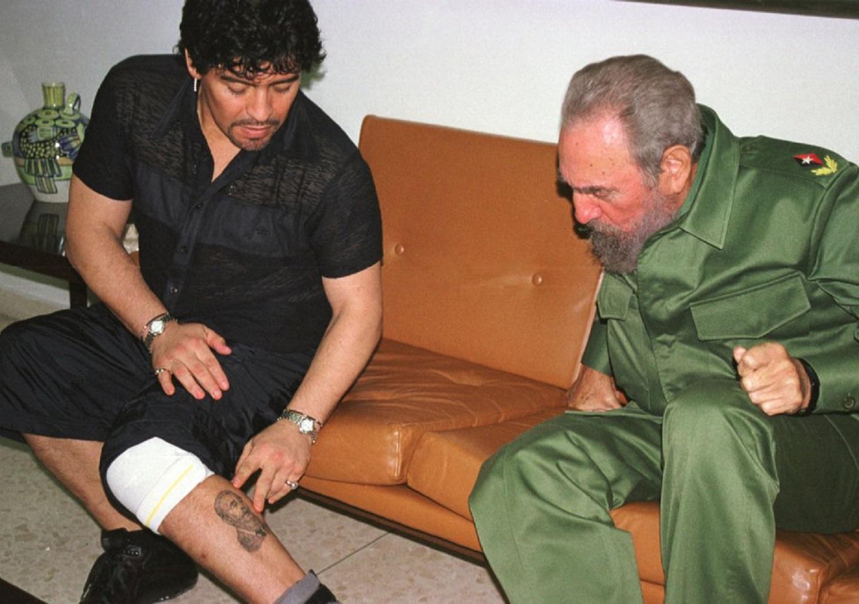 Fidel Castro y Diego Maradona
