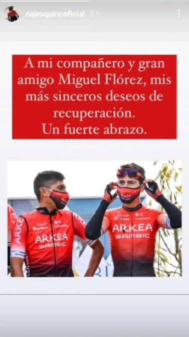 Nairo Quintana le envía mensaje a Miguel Flórez