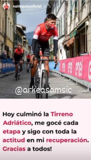 Nairo Quintana, reacciones tras la Tirreno Adriático