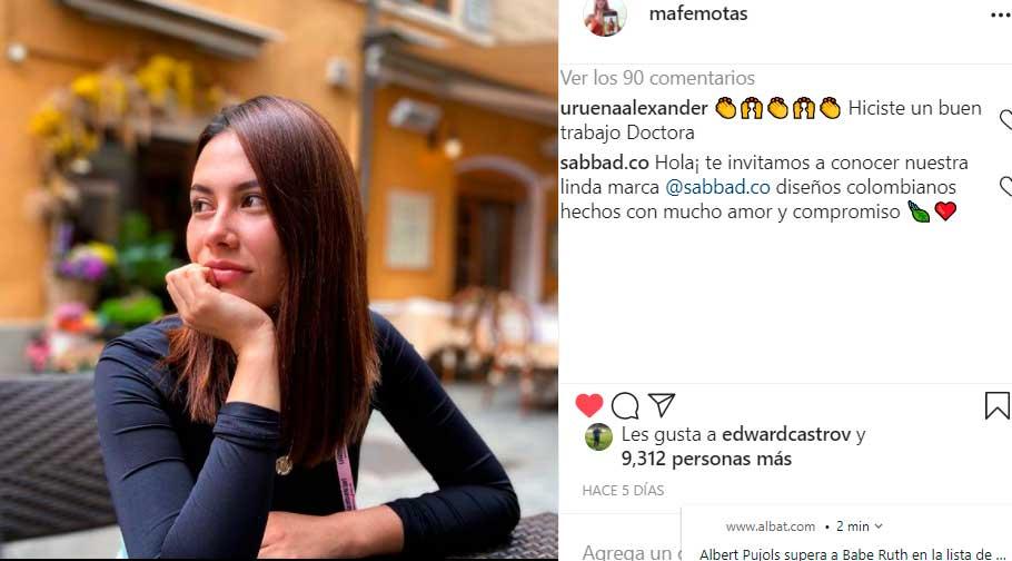 María Fernanda Motas, Egan Bernal