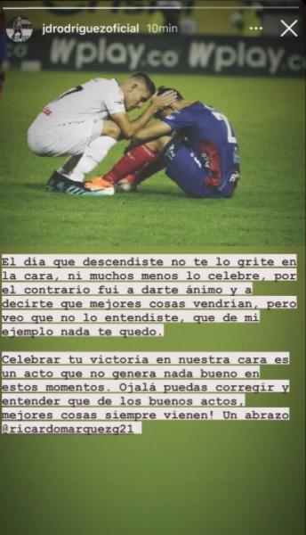 Juan David Rodríguez en Instagram