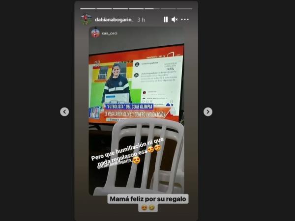 Dahiana Bogarín en redes sociales