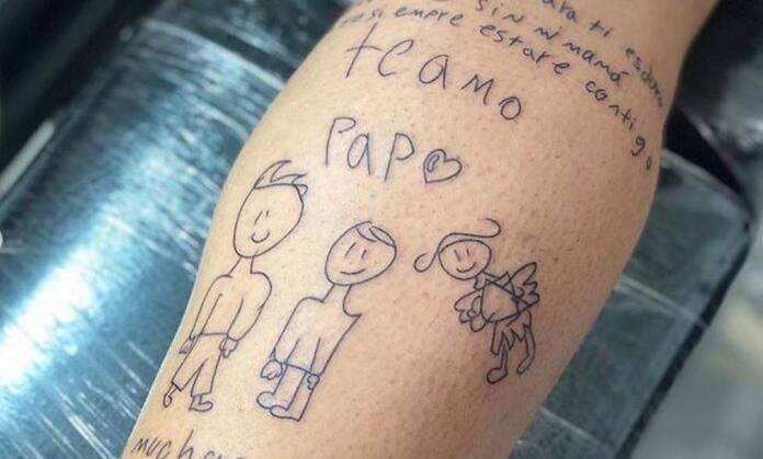 El Tatuaje De Luis Delgado Una Carta En Honor A Su Hijo Y Su Esposa Antena 2