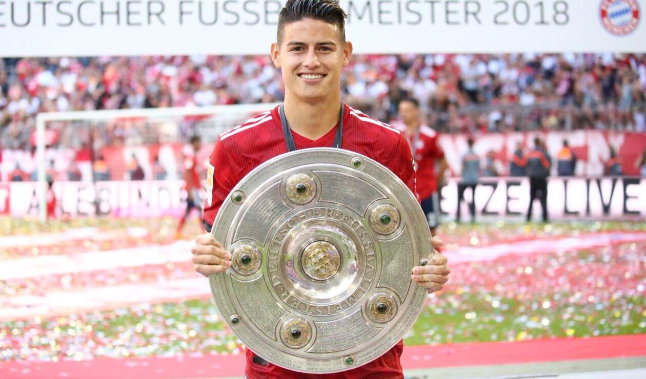 James Rodríguez ganó su primera Bundesliga / Foto oficial.