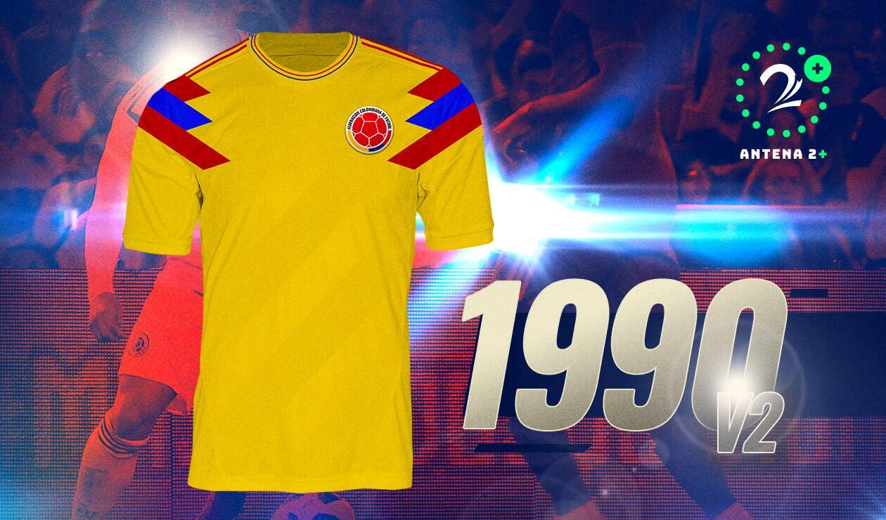 Camiseta Selección Colombia1990 Amarilla